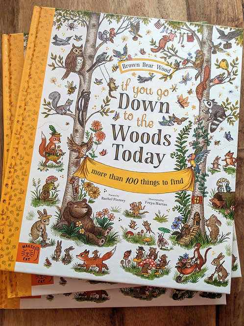 If you go Down to the Woods Today - Brown Bear Woods by Rachel Piercey, Hartas
