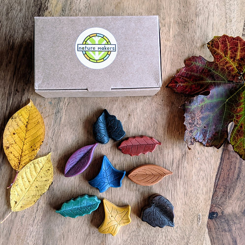 Nature Makers leaf shaped 8 set of Crayons