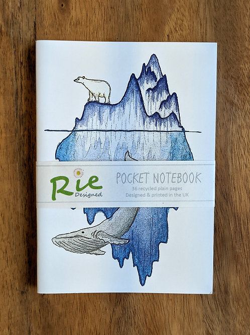 Arctic A6 plain recycled notebook