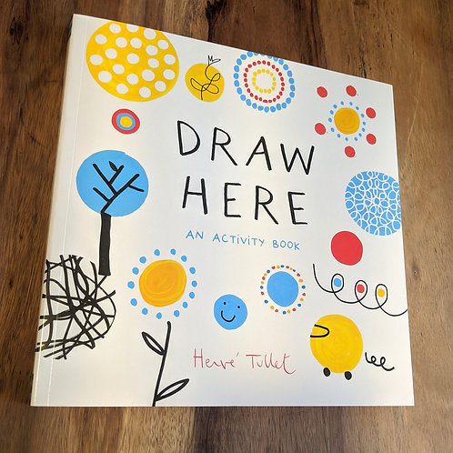 Draw here an activity book by Herve Tullet