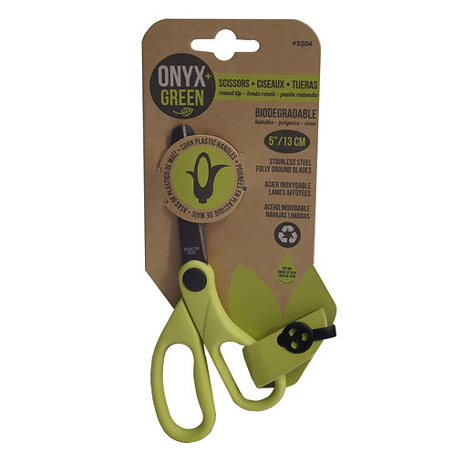 Onyx and Green Biodegradable Corn Plastic Scissors