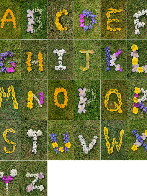 Spring Nature inspired Uppercase / Capital Letters to learn words / spelling