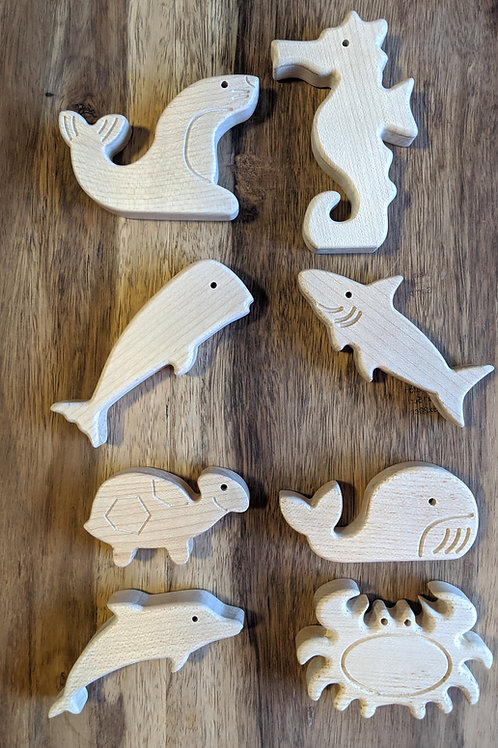 Individual Wooden Sea Animals toy - Abaki® toys