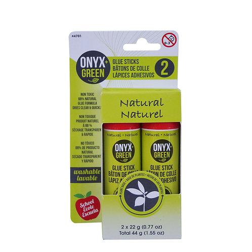 Onyx and Green Plant Glue Sticks x 2