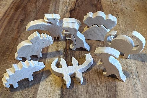 Individual Wooden Dinosaur toy - Abaki® toys