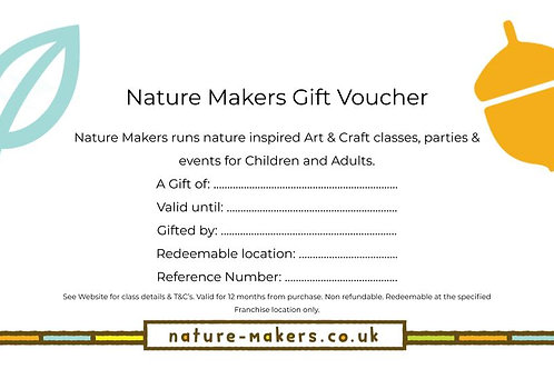 Nature Makers Gift Voucher
