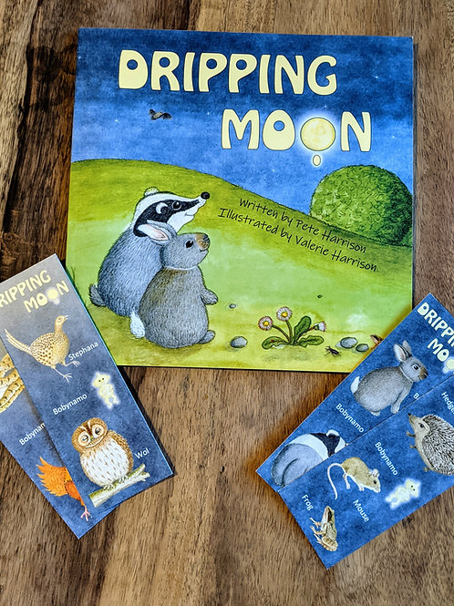 Dripping Moon children's book by Pete and Valerie Harrison