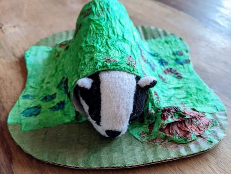 Create your own Paper Mache Badger Sett