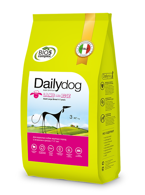 ADULT LARGE BREED Lamb&Rice|корм для собак крупных пород с ягненком и рисом