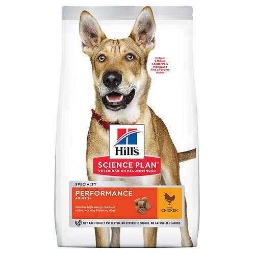 Сухой корм Hill's Science Plan Performance для взрослых собак с курицей
