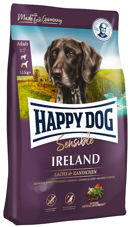 Happy Dog Supreme Sensible Ireland с лососем, кроликом и картофелем