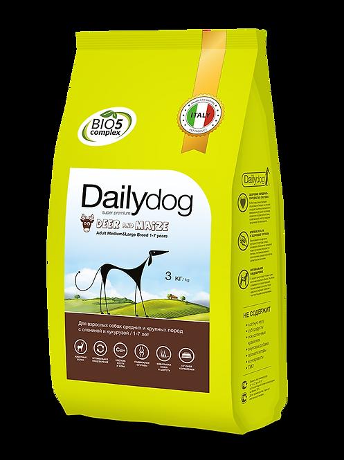 ADULT MEDIUM/LARGE BREED Deer&Maize|для собак средних и крупных пород с олениной