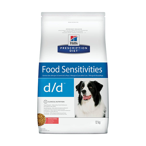 Hill's Prescription Diet d/d Food Sensitivities при аллергии, заболеваниях кожи