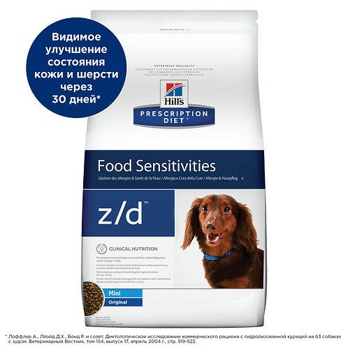 Hills Food Sensitivities Mini z/d диета для собак мелких пород