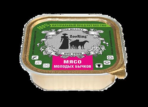 КОРМ КОНСЕРВИРОВАННЫЙ ПОЛНОРАЦИОННЫЙ ДЛЯ СОБАК (ПАШТЕТ) - Мясо молодых бычков