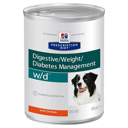 Hill's Prescription Diet w/dдля собак с курицей 370гр