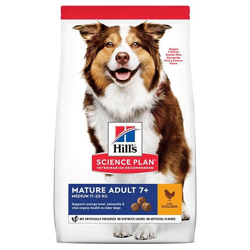 Hill's Science Plan для собак средних пород старшего возраста с курицей