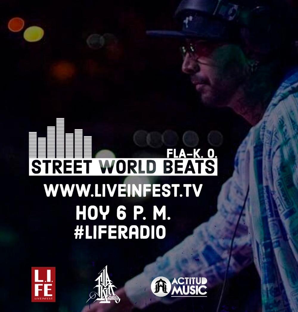 DJ Fla-K.O. host of Street World Beats