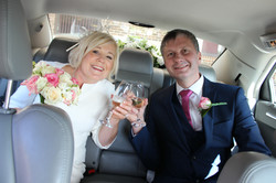Romantic wedding cars