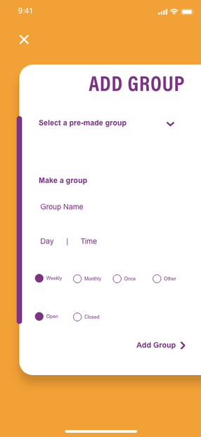 Add Group Page