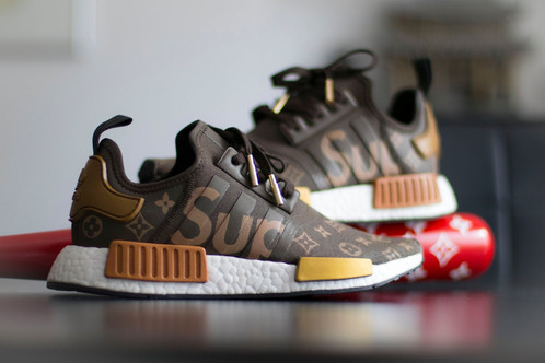 6f8d7c1c23d6b The Supreme Louis Vuitton adidas NMD is a custom featuring Louis Vuitton s  monogram and Supreme