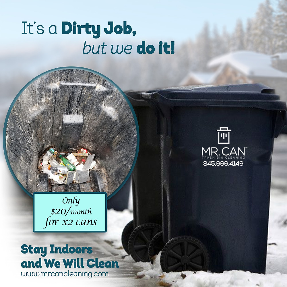 Mr. Can Trash Can Cleaning in the winter months.