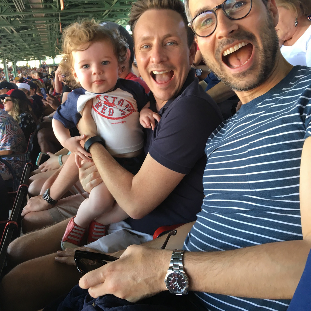 Little baby Miles took us to a Red Sox game!!