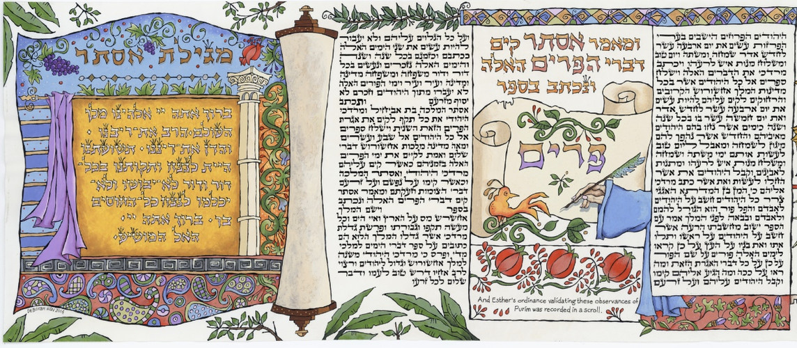 The observancies of Purim were recorded in a scroll.