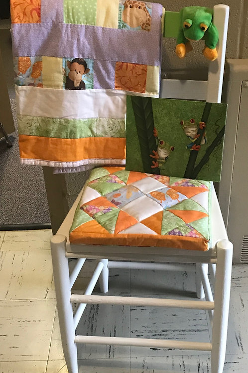 Baby Quilt, Painting, and Chair Package