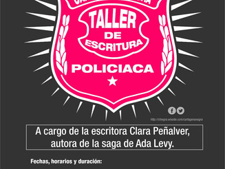 Clara Peñalver impartirá un taller de escritura policiaca durante las jornadas de Cartagena Negra