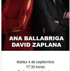 A balazo limpio: Ana Ballabriga y David Zaplana se enfrentan a nuestro cuestionario.