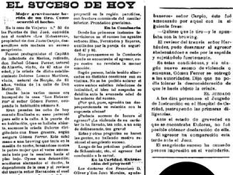 """Relato ganador del Concurso """"Sangre en los Habaneros"""""""