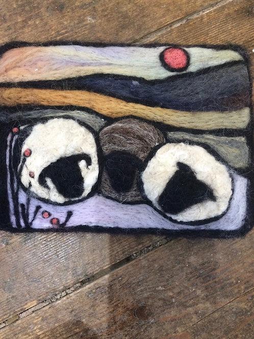 Three Sheep Needlefelt Art Kit