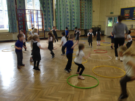 5..4..3..2..1..Blast off!! Physical Friday in Nursery