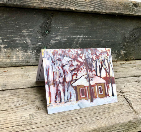 Snow House Holiday Card