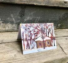 Snow House Holiday Card