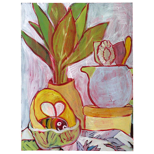 Plant, Jug, Bee
