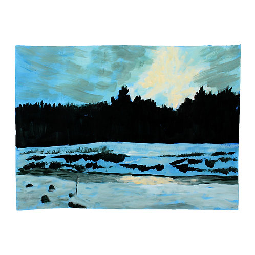 Moe's River Sun Setting