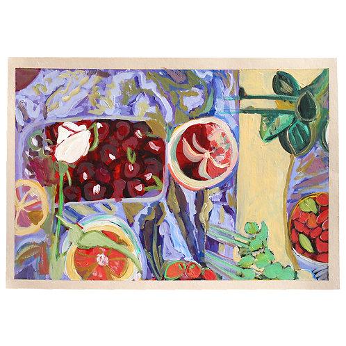 Cherries, Grapefruit, Roses