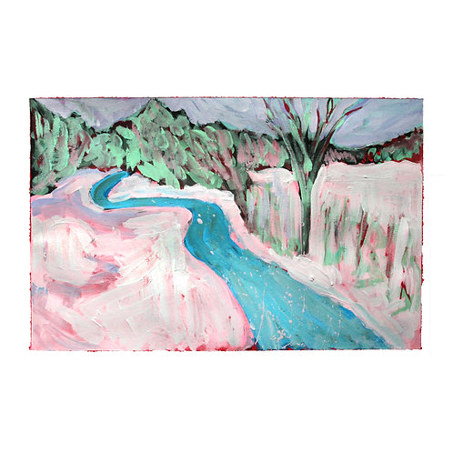 Pink Snow River