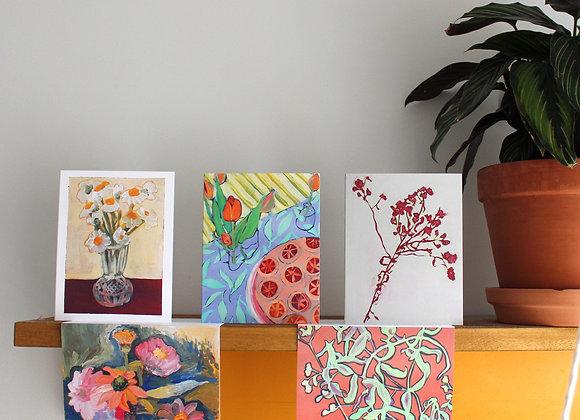 """Fleurs"" Greeting Cards (5)"