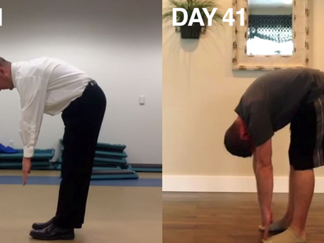 Man Touches Toes in 41 Days!