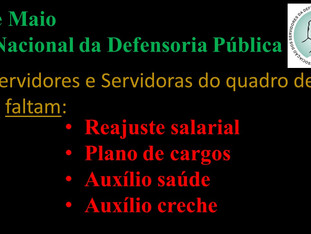 19 de Maio  Dia Nacional da Defensoria Pública