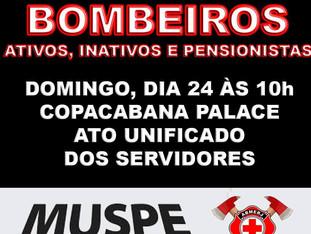 COMPAREÇA DOMINGO DIA 24/07 ÀS 10:00 EM FRENTE AO COPACABANA PALACE