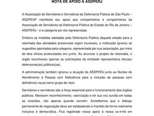 NOTA DE APOIO - ASDPESP
