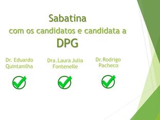 Sabatina com os defensores públicos candidatos a DPG