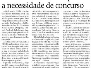 CONCURSO PARA SERVIDORES: ausência de PCCS é um dosmotivos da grande evasão e excesso deestagiári
