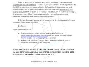 CONVOCAÇÃO AGE -COM URGÊNCIA - DIA 02/07/2020 ÀS 18:00