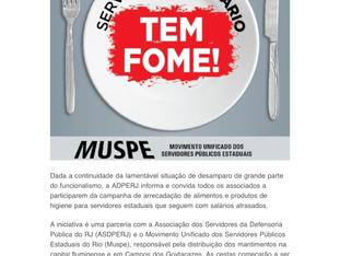 """""""Servidor Sem Salário Tem Fome"""" - prestação de contas - ASDPERJ e ADPERJ"""