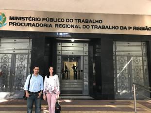 ASDPERJ e ASSEMPERJ visitam MPT para conhecer a Política Nacional de Enfrentamento ao Assédio Moral